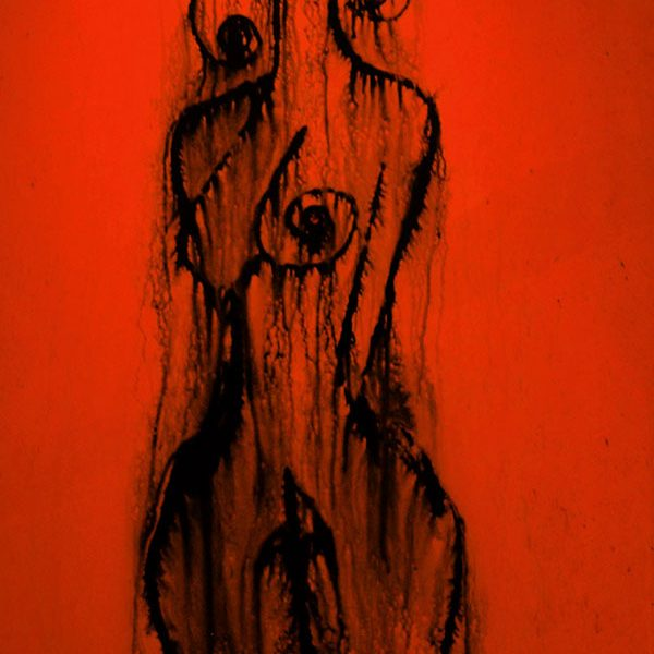 woman red painting
